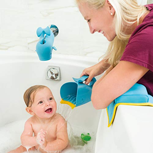 Large Product Image of Skip Hop Moby Bath Tear-Free Waterfall Rinser Bath Cup, Blue