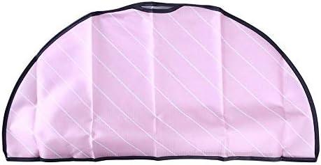 セミパッケージタイプの服ダストカバーノントレース服ハンガーカバー59 * 29センチメートル衣服プロテクター収納袋 (Color : Pink)
