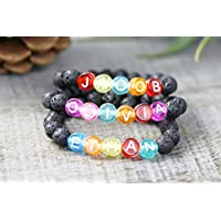 Kids Essential Oil Bracelet, Personalized Bracelet for Kids, Custom Name Bracelet, Choose Size