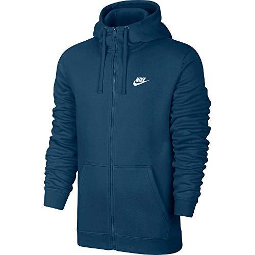 Azul Fz Sweatshirt Nike blue Hoodie Club white Nsw Hombre Force M Bb xHw8HOIq