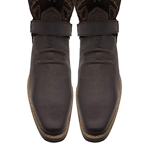 Boots Cowboy Footwear 47 Tirare Eu40 Kick Mens Occidentale Brown Suede Smart Lungo Caviglia Tacco Cubano wERAvqx