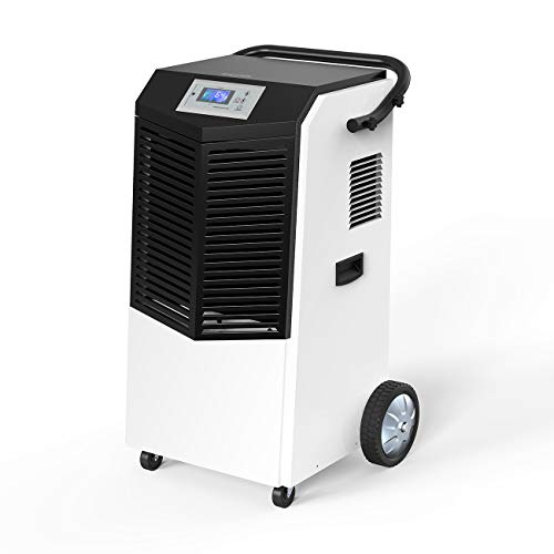 Inofia 232 PPD Commercial Dehumidifier, Large Industrial Dehumidifier with Hose for Basements, Warehouse & Job Sites Clean-Up, Flood, Water Damage Restoration - Moisture Removal Up to 29 Gallons/Day (Dehumidifier Commercial)