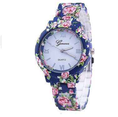 Popeye The Sailor Man Costume Pattern (Flowers Pattern Quartz Fashion Casual Wrist Watch)