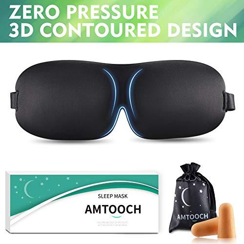 Higher Invisiable Nose Alar AMTOOCH Sleep Mask 3D Contoured Soft Eye Masks Adjustable Strap Great for Travel, Shift Work, Nap, Meditation & Sleeping Aid by AMTOOCH (Image #8)