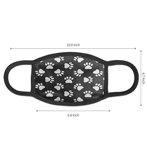 Dust Mask Cat Dog Paw Print Antiviral Face Mask Cover Anti-dust Reusable Windproof Half Face Mouth Warm Masks for Ski Bicycle Cycling Motorcycle Women Men