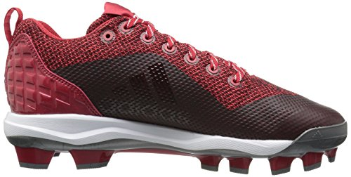 Scarpa Da Baseball Adidas Uomo Man Freak X Carbon Mid, Potere Rosso, Argento Met, Bianco Lucido, 17 M Us