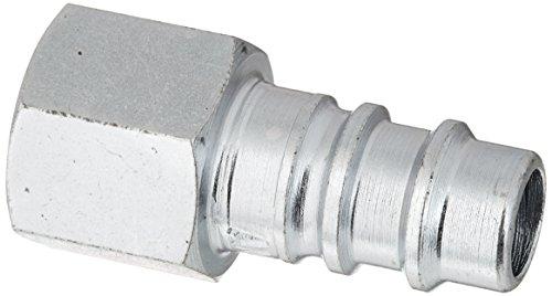 Style Female Plug (Amflo CP90 Steel HI-FLO Air Line Coupler Plug ('V-Style' X 1/4