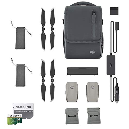 (DJI Mavic 2 Fly More Kit for Mavic 2 Pro and Mavic 2 Zoom Accessories Combo Bundle with Propellers Bag, Battery Bag, microSD Card)