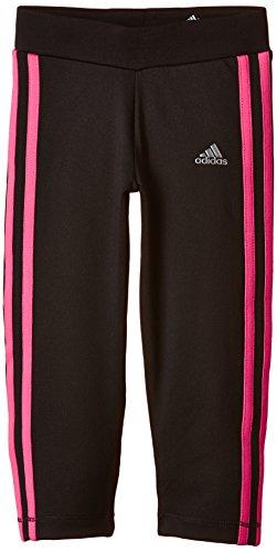 adidas Mädchen Clima 3/4 Tights, Schwarz/Pink, 140, AB4786