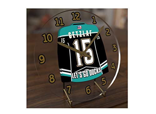 FanPlastic N H L Hockey Jersey Themed Clock - All Central Division Team Colours - Our Very OWN 'Let's GO' Range of Clocks !! (Let's Go Ducks Edition)