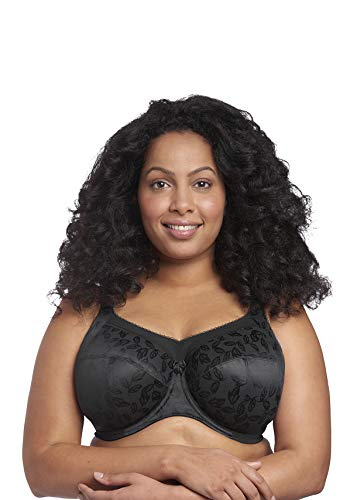 Goddess Women's Plus-Size Petra Full Cup Underwire Banded Bra Bra, Black, 48I