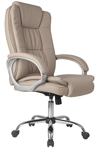 Venta Stock Confort 2 - Sillon de oficina elevable y reclinable, piel sintetica, color taupe