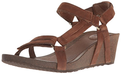 Teva Women's W Ysidro Universal Wedge Sandal, Brown, 10 M US