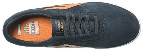 Lakai Mens Sheffield Skatesko Träkol / Orange Mocka