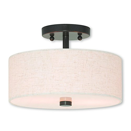 Livex Lighting 52133-92 Meridian 2 Light English Bronze Ceiling Mount, ()