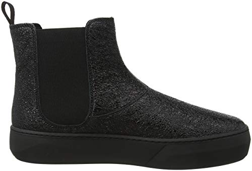 Frau Hi Trainers Black Top Women's Nero Beatles Nero OOqxrTga