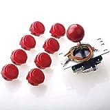 Sanwa JLF-TP-8YT Joystick + Sanwa 8 pcs OBSF-30