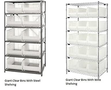 Quantum Storage Systems Wire Shelving With Giant Clear Bins Gcsb-Ws ...