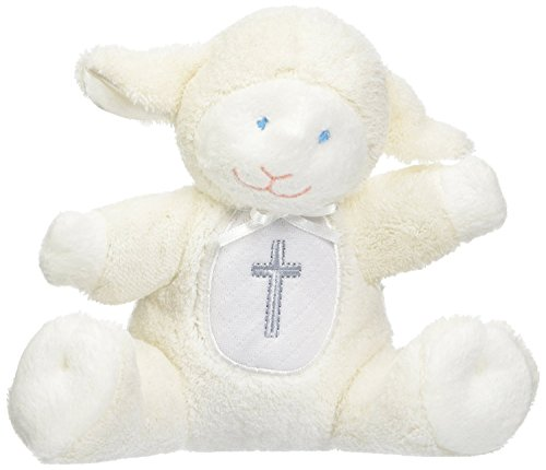Mary Meyer Baby Rattle Soft Toy, Christening Lamb
