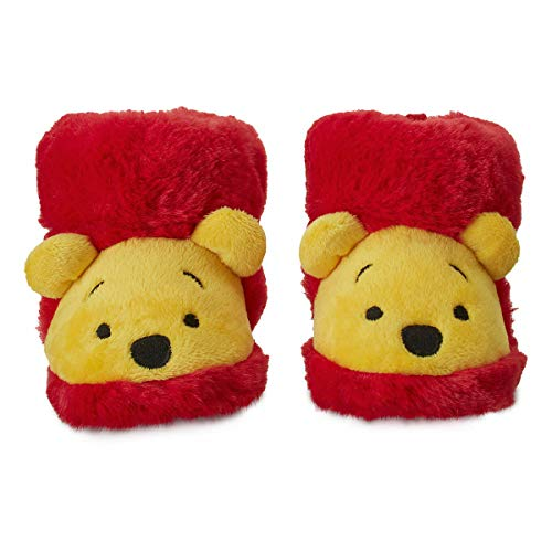 Disney Store Winnie The Pooh Baby Soft Fluffy Shoes (12-18M) Red