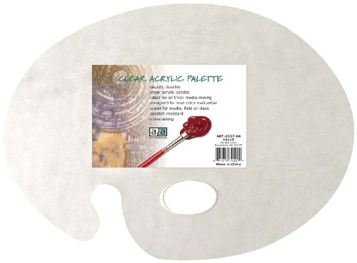 Oil Paint Palette - Art Advantage 11-Inch by 15-Inch Clear Acrylic Palette (6957-04)