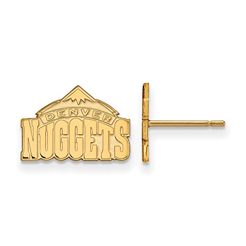 NBA Denver Nuggets X-Small Post Earrings in 14K Yellow Gold by LogoArt
