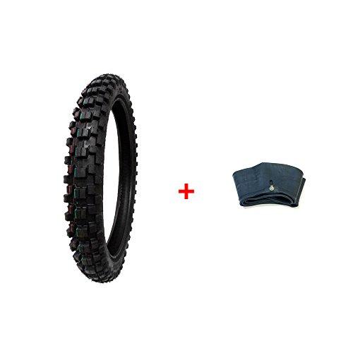 COMBO: Dirt Bike TIRE Size 70/100-17 + INNER TUBE Size 70/100-17 TR4 Valve Stem