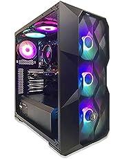 CyberC4 Pre-Built PC Gaming Computer Desktop Malefic 9 (AMD Ryzen 5 1400 4.2 GHz, Asus GTX 1050 2GB Fans, 8GB DDR4 RAM, M.2 128 GB SSD, 500 GB HDD, Wi-Fi Ready, Windows 10 Pro)