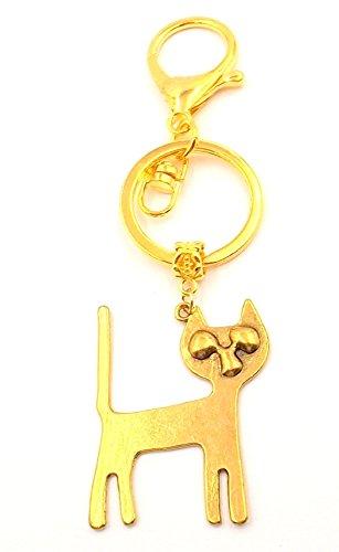 Eyes Costumes Of Heaven (Cat Lovers Men Women Gold-tone Purse Car Accessory Keychain Pet Fur Babies)