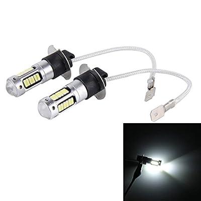 Ecosin Fashion 2PC H3 4014 30SMD Bulb High Power Car LED Fog Lights