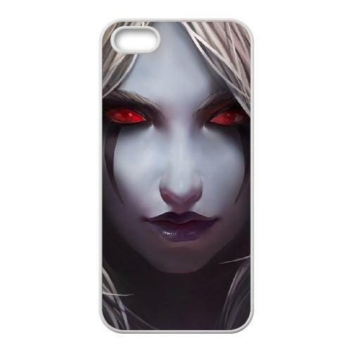 Sylvanas Windrunner coque iPhone 5 5s cellulaire cas coque de téléphone cas blanche couverture de téléphone portable EEECBCAAN08556