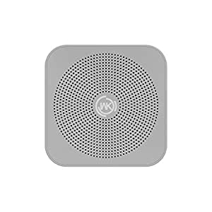 WK Design Bluetooth Speaker with Loud Stereo Sound, Rich Bass, 24-Hour Playtime, Built-In Mic-Grey