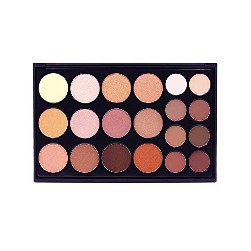 Crown Professional Makeup Nude Matt Metallic Eye Shadow Make Up Eyeshadow Palette (Neutral Collection CP06)