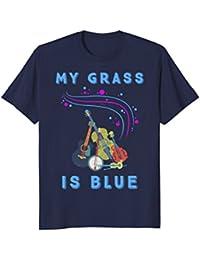 My Grass Is Blue T-Shirt For Fans of Bluegrass Music