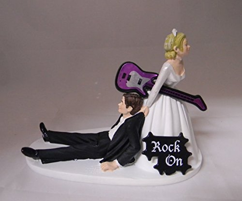 wedding cake topper man with guitar guitar cake toppers shop guitar cake toppers 26352