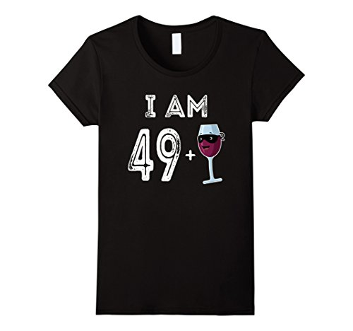 Wine Bottle And Glass Costume (Womens 50 Years Old Red Wine Glass Gift 50th Birthday Shirt Large Black)