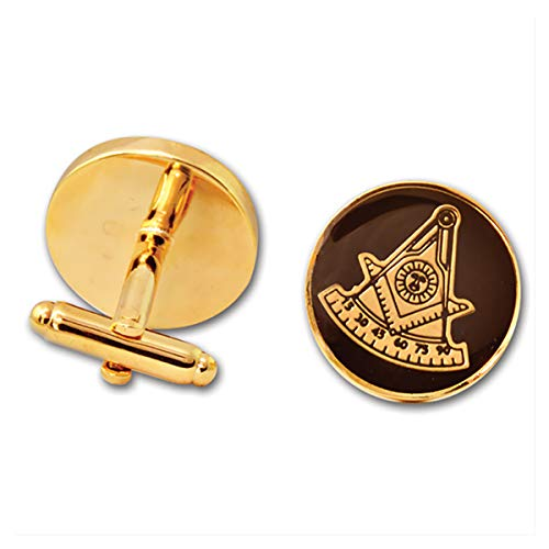 Masonic Past Master Round Blac