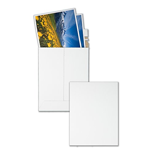 Quality Park, Extra Rigid Fiberboard Photo/Document Mailer, Redi-Strip, White, 6x8, 25 per Box (64007)