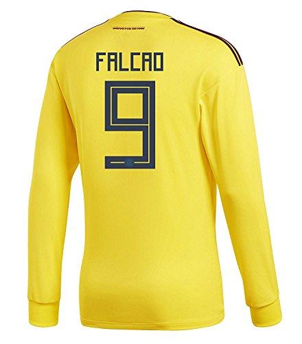 マイコンカタログスーツadidas Mens FALCAO #9 Colombia Home Long Sleeve Soccer Jersey World Cup 2018 /サッカー ユニフォーム ファルカオ 背番号 9 コロンビア ホーム用 長袖