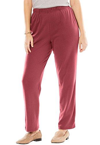 Women's Plus Size 7-Day Knit Petite Straight Leg Pant
