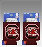SET OF 2 SOUTH CAROLINA GAMECOCKS CAN KADDY KOOZIES For Sale
