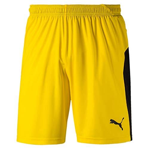 Puma Men's LIGA Training Shorts, Cyber Yellow Black, XXL
