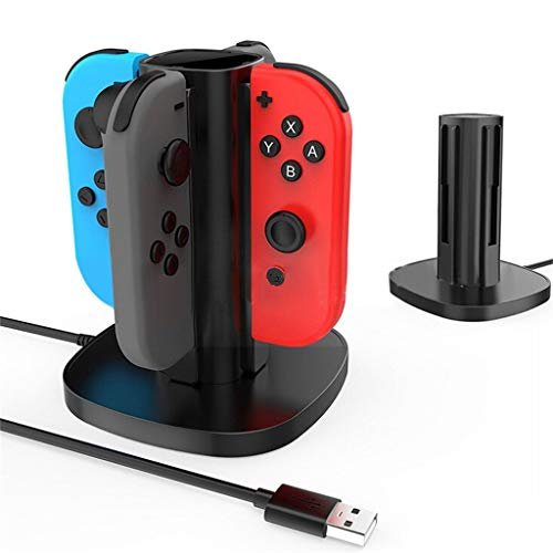 Charging Station for NS Nintendo Switch Joy-Cons, Portable Dock Charger with LED Indication Black (Gta 4 Mods Xbox 360 Usb Cars)