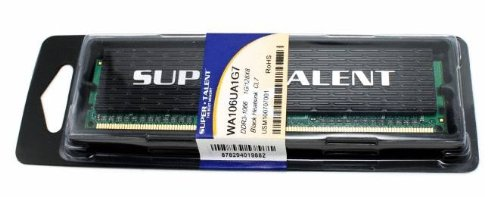 Super Talent DDR3 1600 4 GB/256Mx8 CL9 Value Memory W1600UB4GV