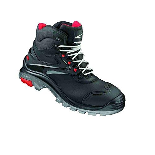De Abgesetzt Noir Rot Homme Pezzol Chaussures Sécurité silber Schwarz Pour WqBzzfAnxp