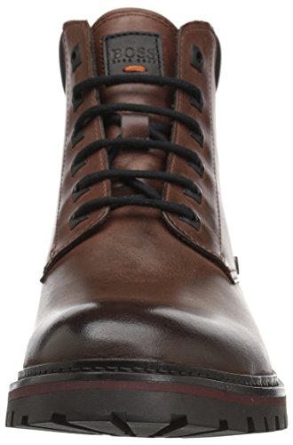 Hugo Boss Boss Orange De Hombres Hero Leather Half Fashion Bota Rust / Copper