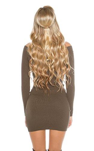 KouCla - Vestido - ajustado - para mujer caqui