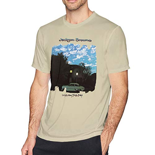Men's T Shirts Jackson Browne Late for The Sky Round Neck Cool Cotton Short Sleeve Tee Natural XXL (Jackson Browne Rock Elite Best Of Jackson Browne Live)