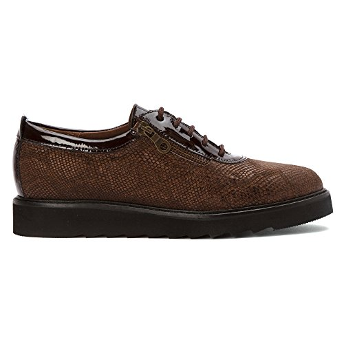 Helle Comfort Womens Damiana Lace Up Brown Python zNhKtT