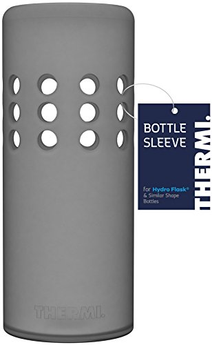 Thermi Protective Silicone Sleeve for Hydro Flask Water Bottles (Translucent Grey, ()
